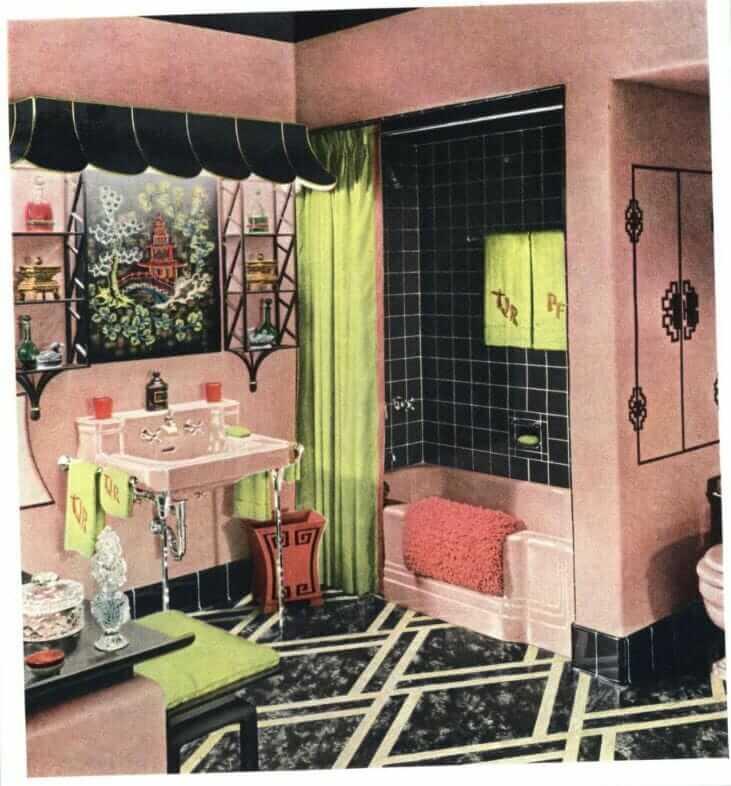 pink bathroom hazel dell brown