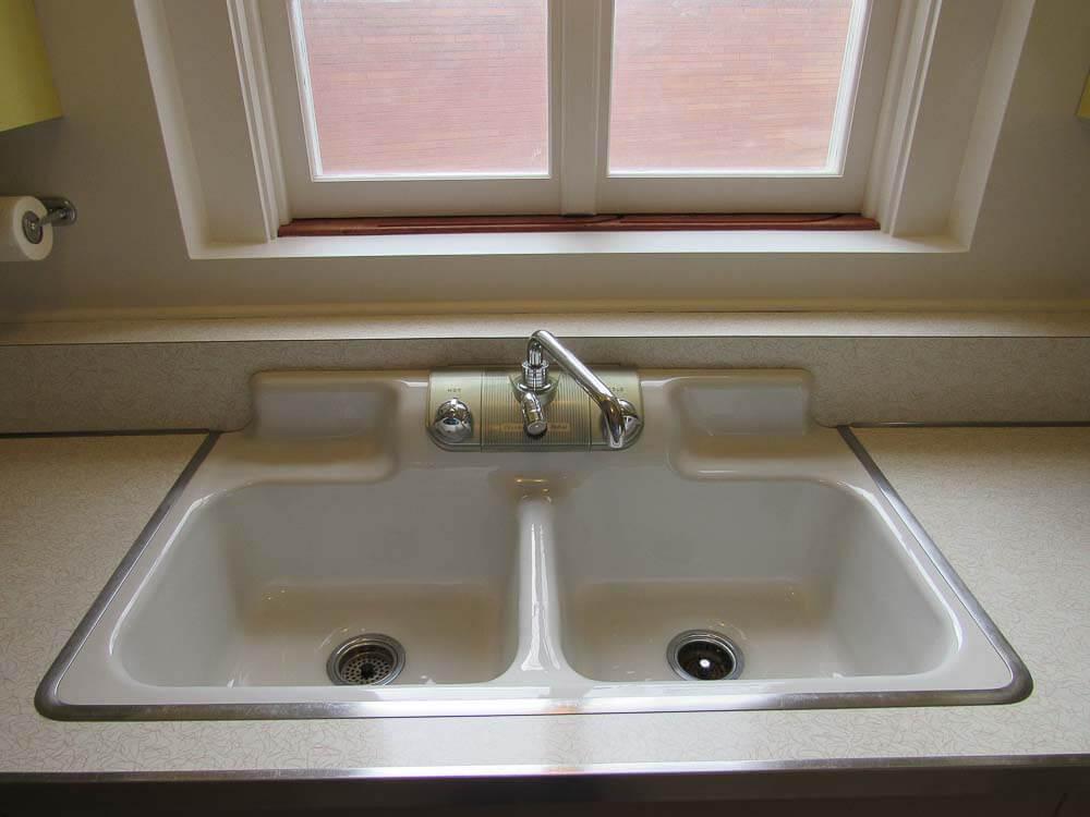 vintage crane kitchen sink