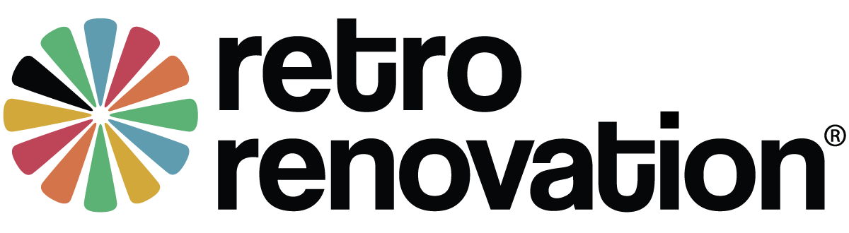 retro renovation logo
