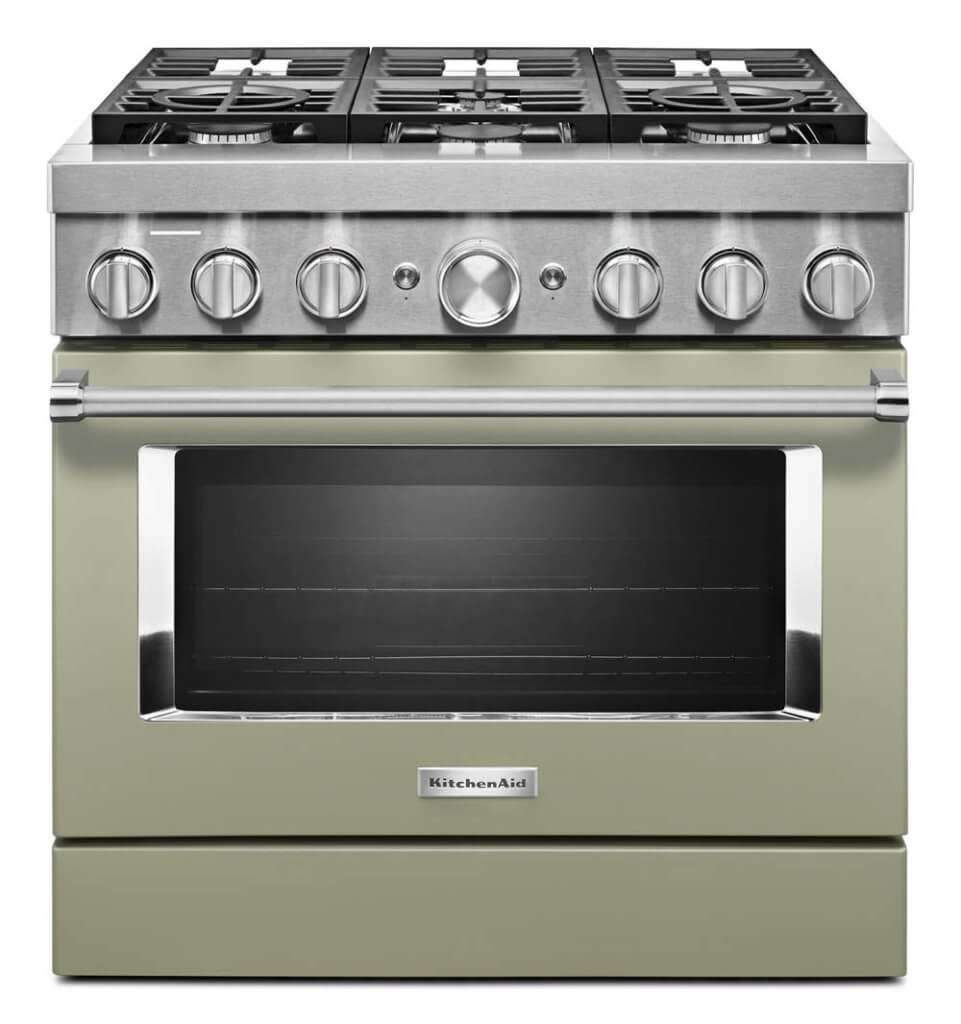 avocado kitchen stove