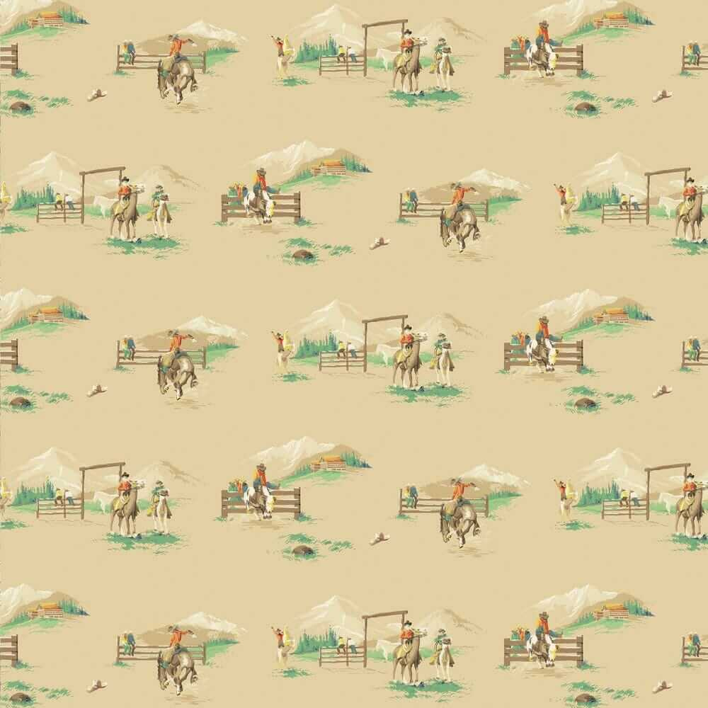 vintage wallpaper cowboys rodeo