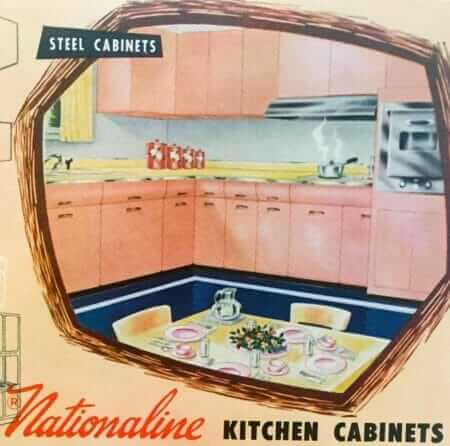 midcentury steel kitchen cabinets