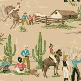 vintage cowboy wallpaper