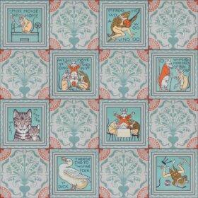 vintage nursery rhyme wallpaper