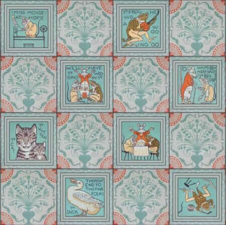 vintage nursery rhyme wallpaper