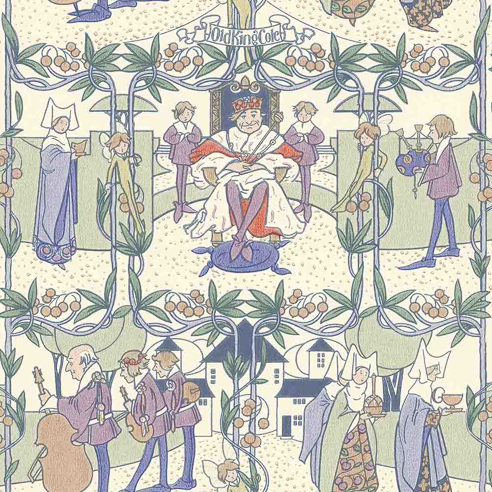 ole king cole childrens vintage reproduction wallpaper