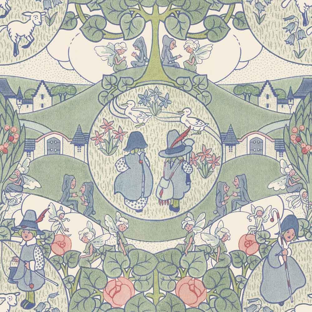 nursery rhyme vintage wallpaper