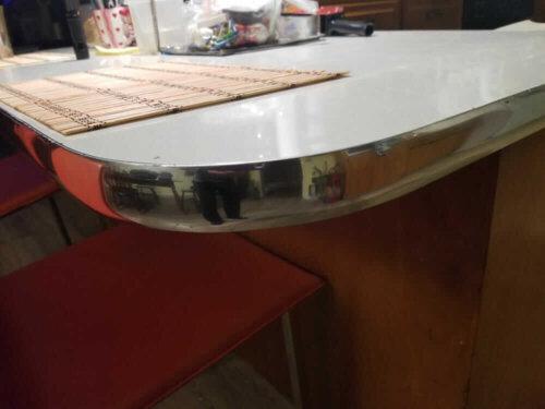 metal countertop eding using inexpensive auto body trim