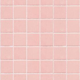 wallpaper that looks like pink bathroom tile