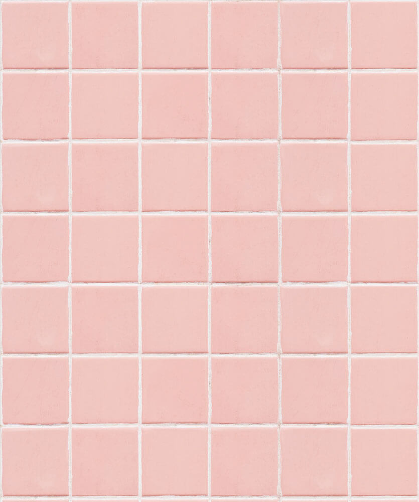 wallpaper that looks like pink bathroom tile