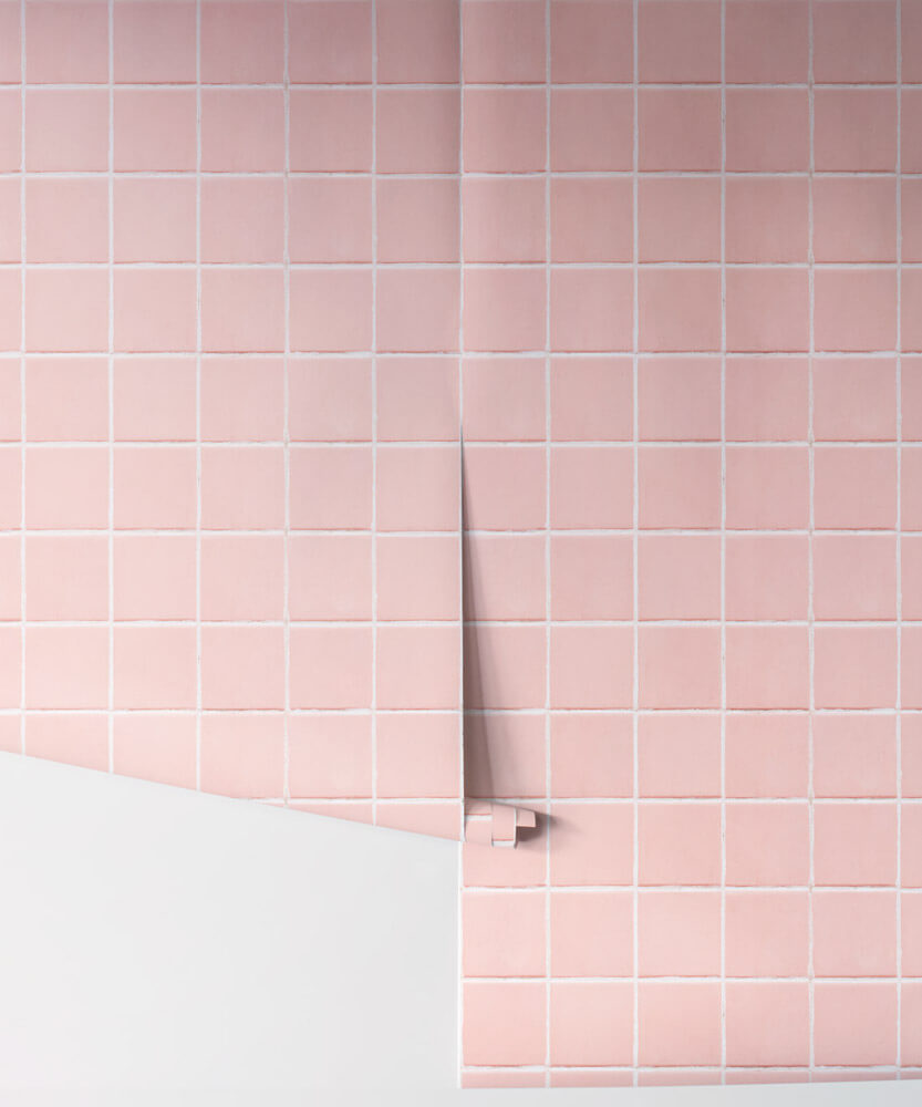 pink bathroom tile wallpaper