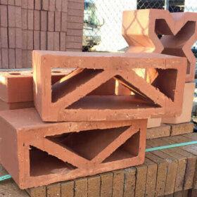 clay breeze block