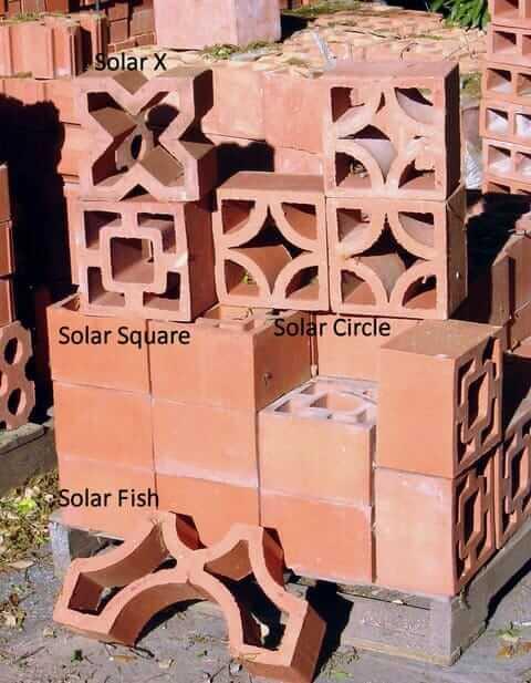 breeze block designs from terra cotta clay