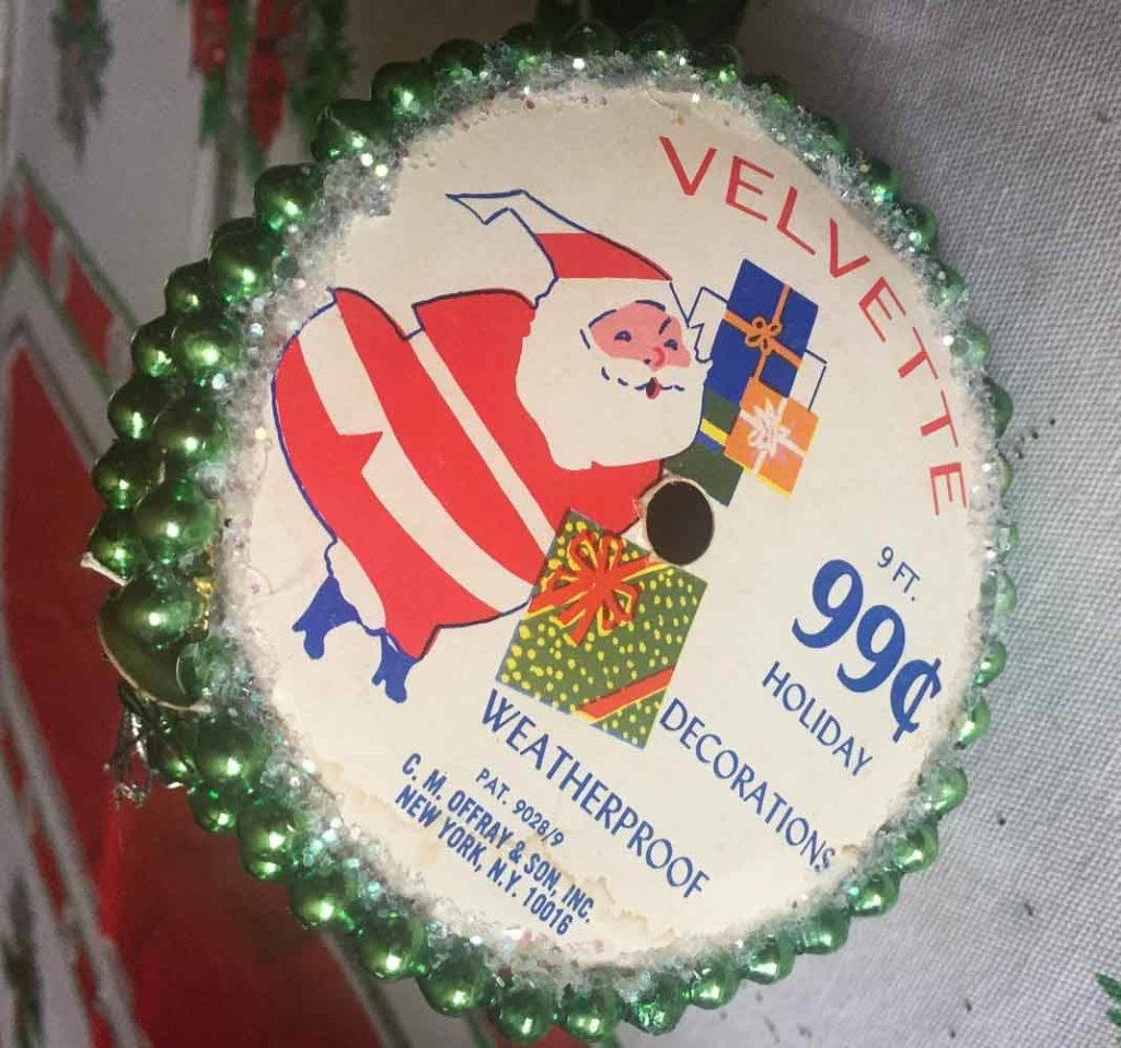 vintage christmas ribbon for crafting