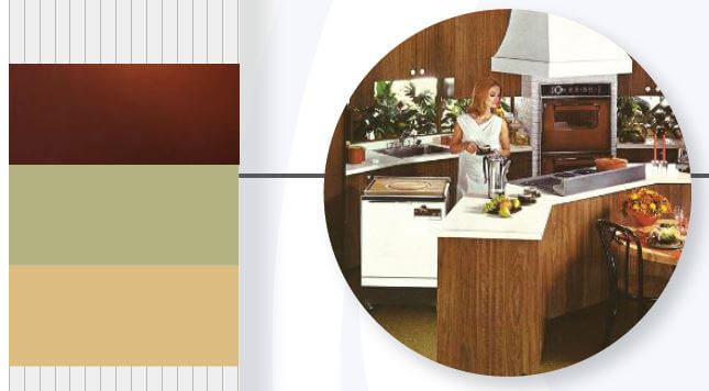avocado color in kitchens