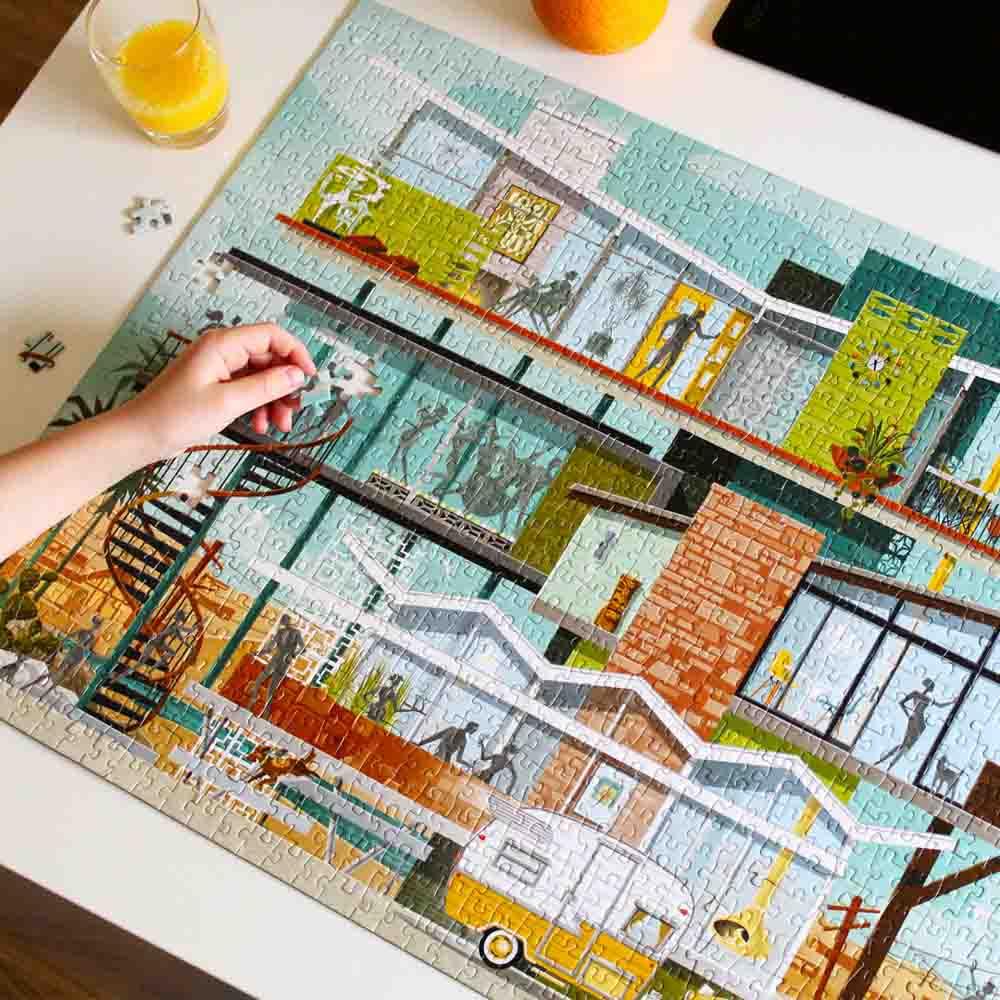 midcentury modern jigsaw puzzle
