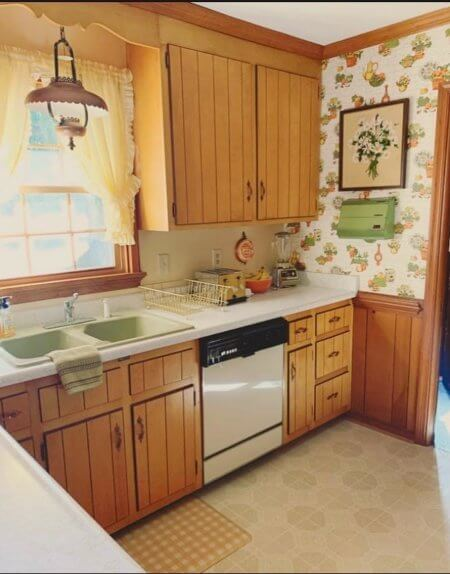mid century kitchen