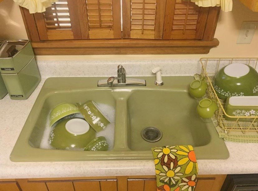 avocado kitchen sink