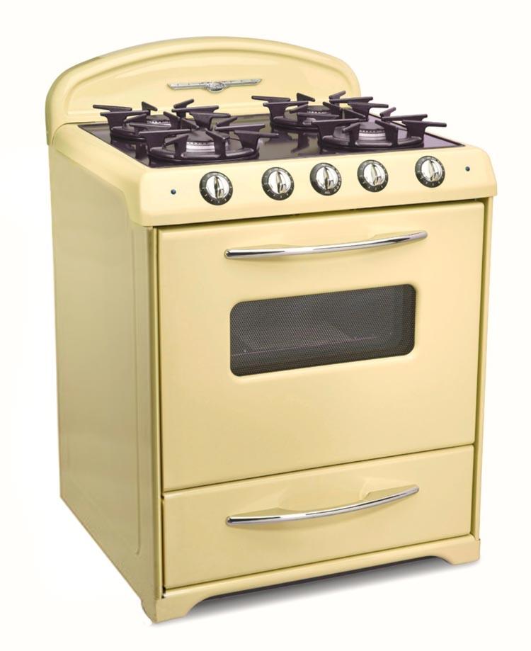 yellow oven range mid century modern retro style from Northstar