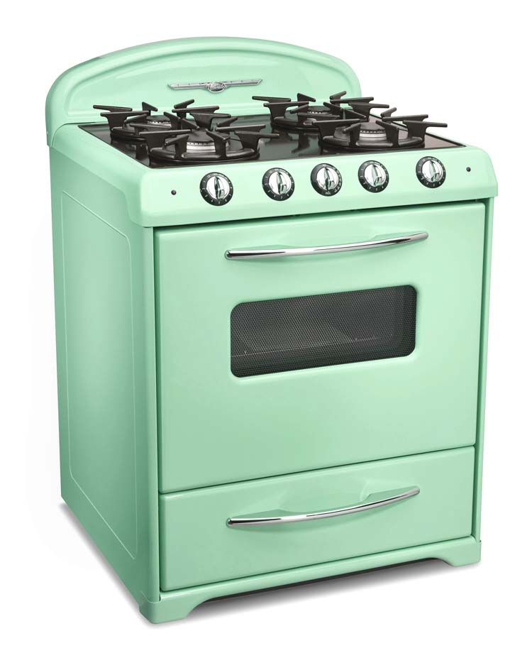 Northstar retro mid century stove in mint green