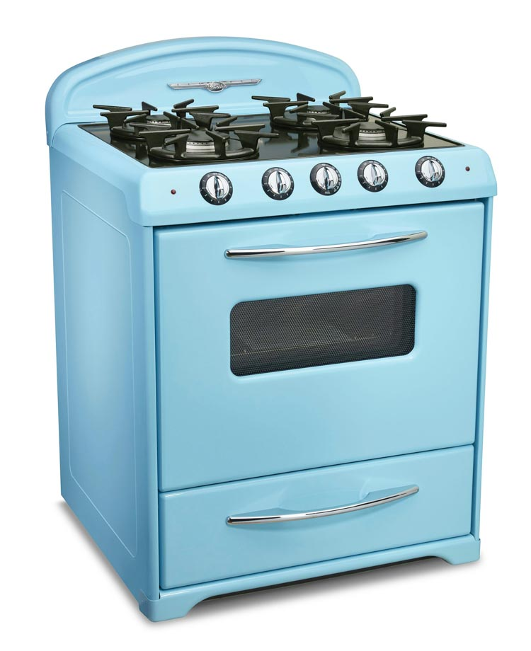 blue retro stove from Northstar