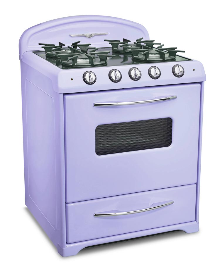 lavendar lilac colored mid century modern range from Northstar