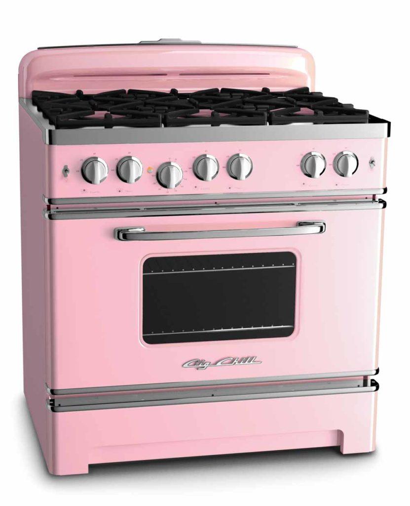 pink retro range 36 inch from big chill
