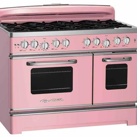 pink retro stove