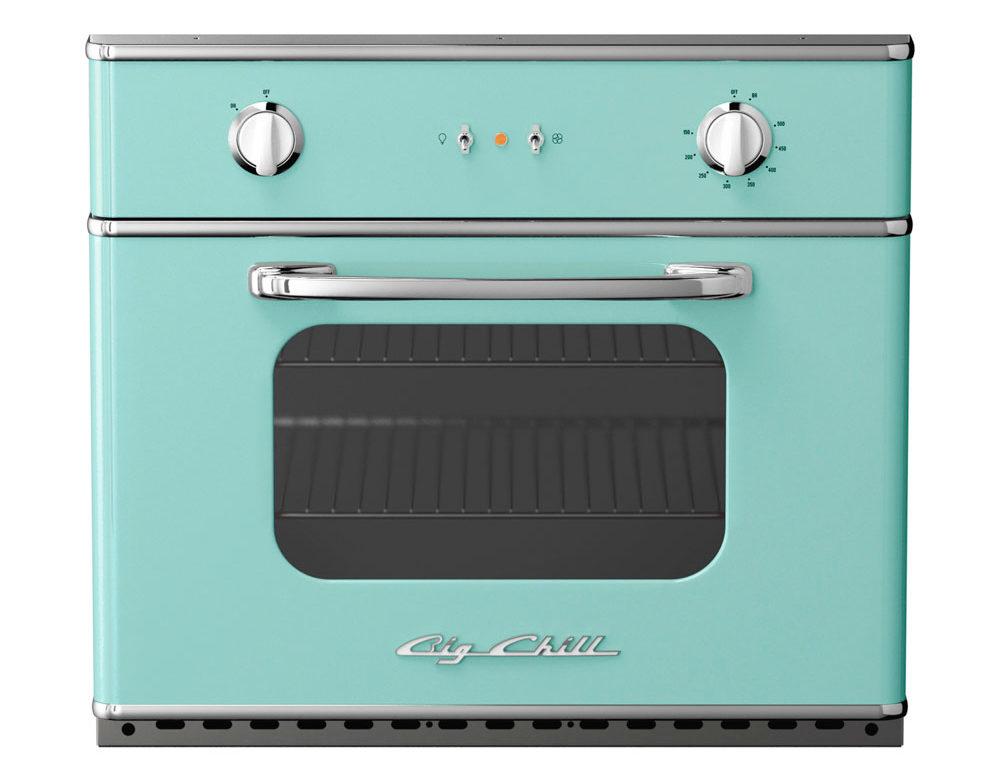 aqua wall oven retro design from big chill