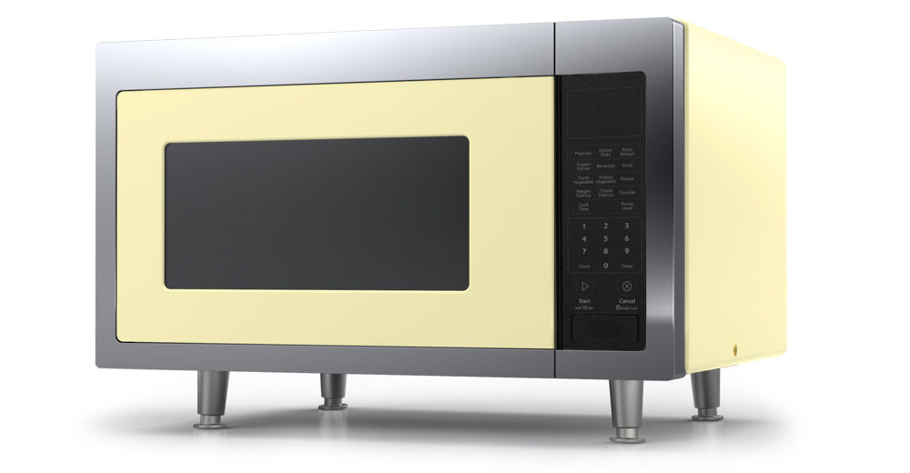yellow microwave from big chill