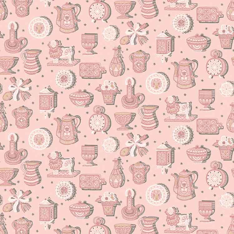 kitchy kitchen in pink wallpaper from bradbury and bradbury