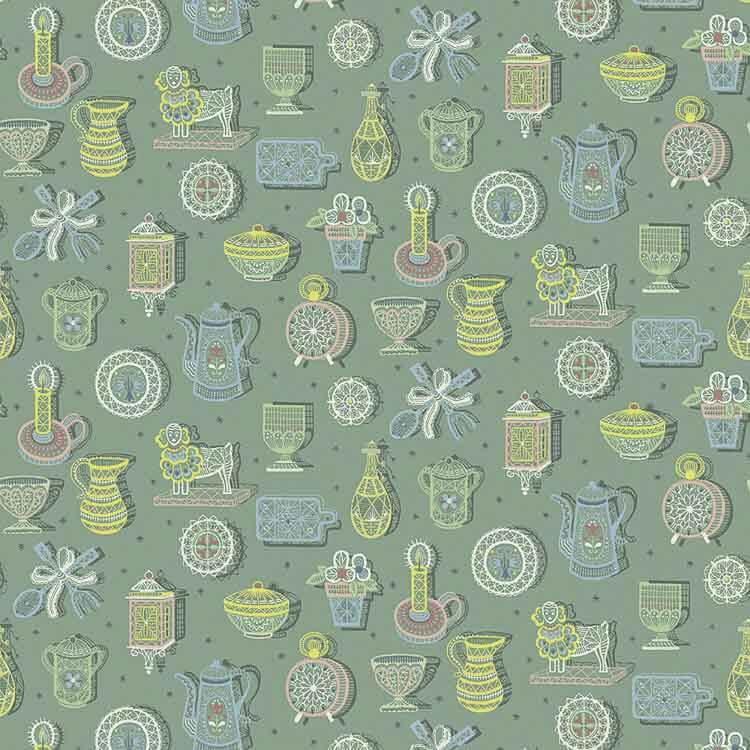 kitchy kitchen wallpaper in green from bradbury and bradbury