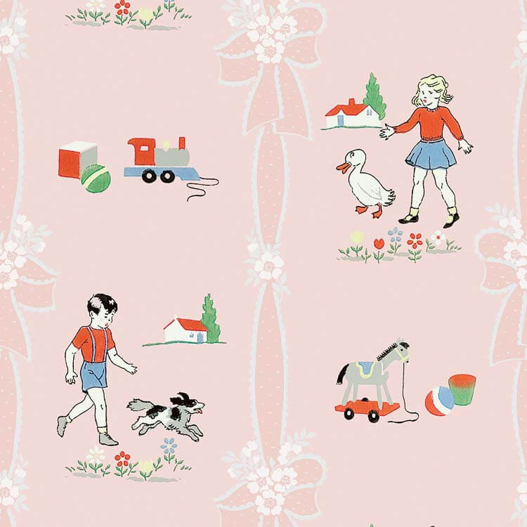 vintage childrens wallpaper