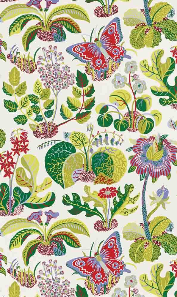 Josef Frank Exotic Butterfly wallpaper, from Sdhumacher