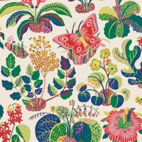 Josef Frank exotic butterfly wallpaper from Schumacher