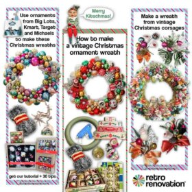 DIY Christmas ornament wreaths using our tutorial and video