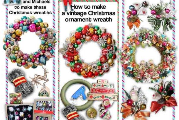 DIY Christmas Ornament Wreaths