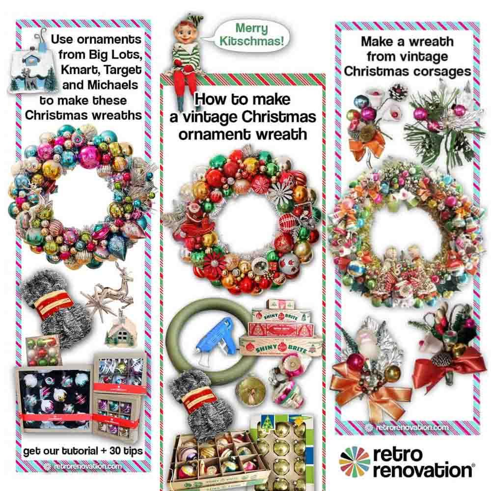 DIY Christmas ornament wreath how-to tutorial