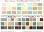 1969 paint color chart from Benjamin Moore