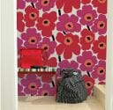 marimekko unikko wallpaper by maija isola 1964