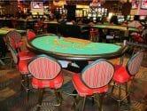 blackjack table at the sahara