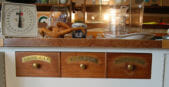 1980s kitchen cabinets with apothecary drawers