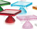 Made in America glassware - cake plates from Mosser Glass