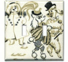 vintage poodle wallpaper switchplate