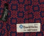 David Hicks neck tie 1971 design for Brittania sold at B. Altman
