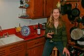 Bonnie Jo Campbell in her kitchen
