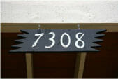 ranchero style house numbers and back plate