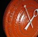 vintage-howard-miller-meridian-ceramic-clock-orange