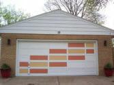 Mid-century-garage-door-painted