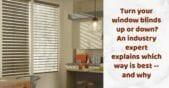 horizontal window blinds tiled up
